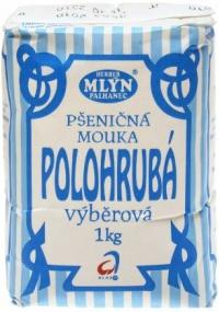 Mouka pšeničná polohrubá výběrová 1 kg Mlýn Herber (10)