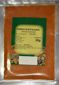 Paprika sladká mletá Dafo 25g (25)